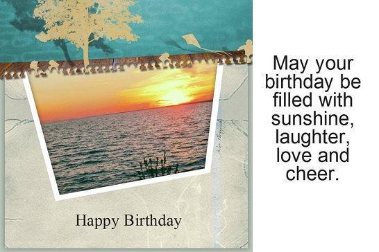 Photo Greeting Card - Flat 5x7- Birthday, Men, boys, Sunset, Nature