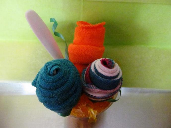 Baby Washcloth Bouquet - Baby Shower, Mother-to-be, Gift, Candy, Infant