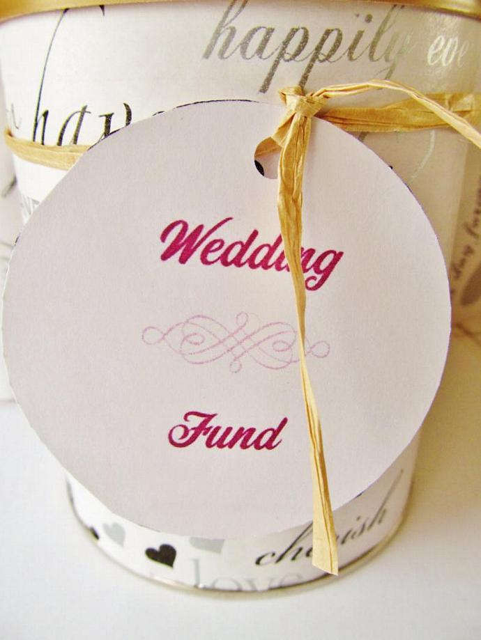 Wedding Fund - Savings Can, Upcycled/Recycled Baby Formula Can, Savings Jar,