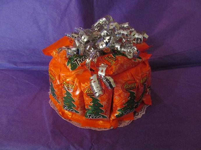 Mini Candy Bar Cake - Reese's Peanut Butter  Centerpiece Gift Made to Order