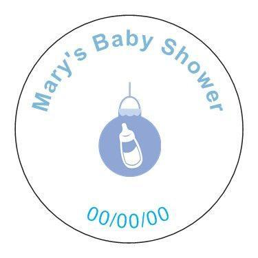 Baby Shower Favor Tags- Set of 24
