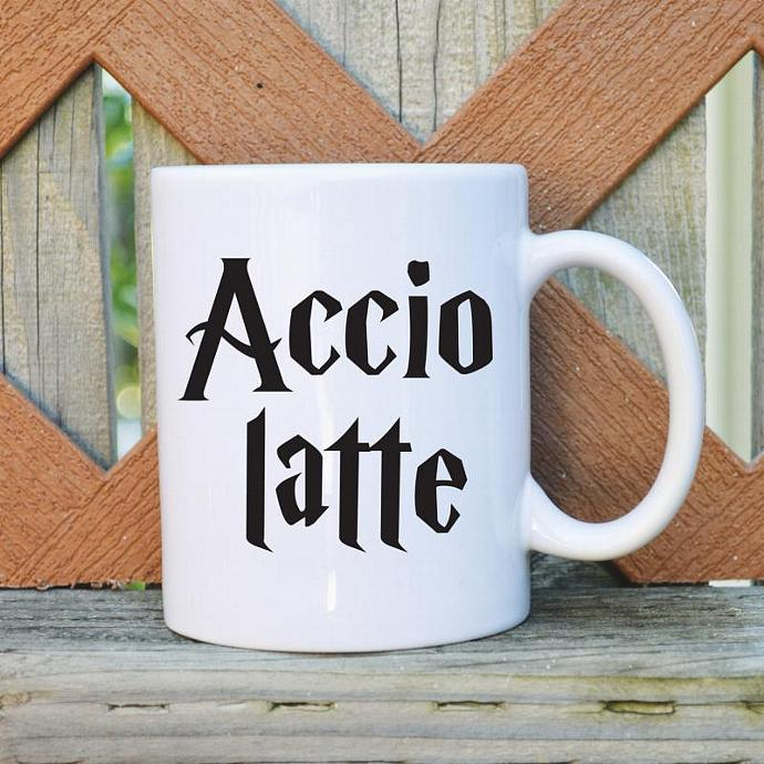 Accio Latte - 11 oz. Coffee Mug - Tickled Teal