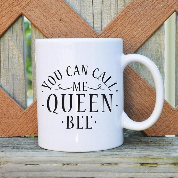 You Can Call Me Queen Bee - 11 oz. Coffee Mug - Tickled Teal
