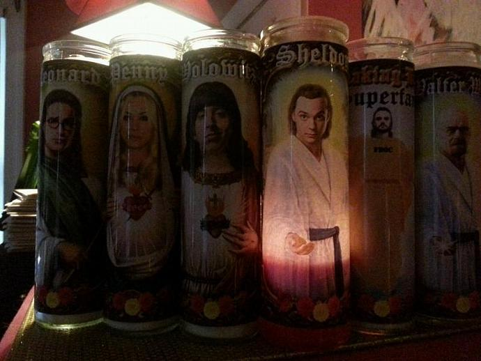 """8"""" Celebrity Tribute  Candle - Big Bang Theory - Sheldon Cooper / Jim Parsons  -"""