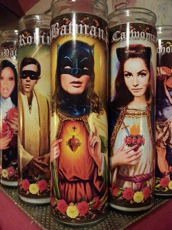 "8""  Celebrity Tribute Candle - Batman -  Catwoman Julie Newmar   - Heavenly"
