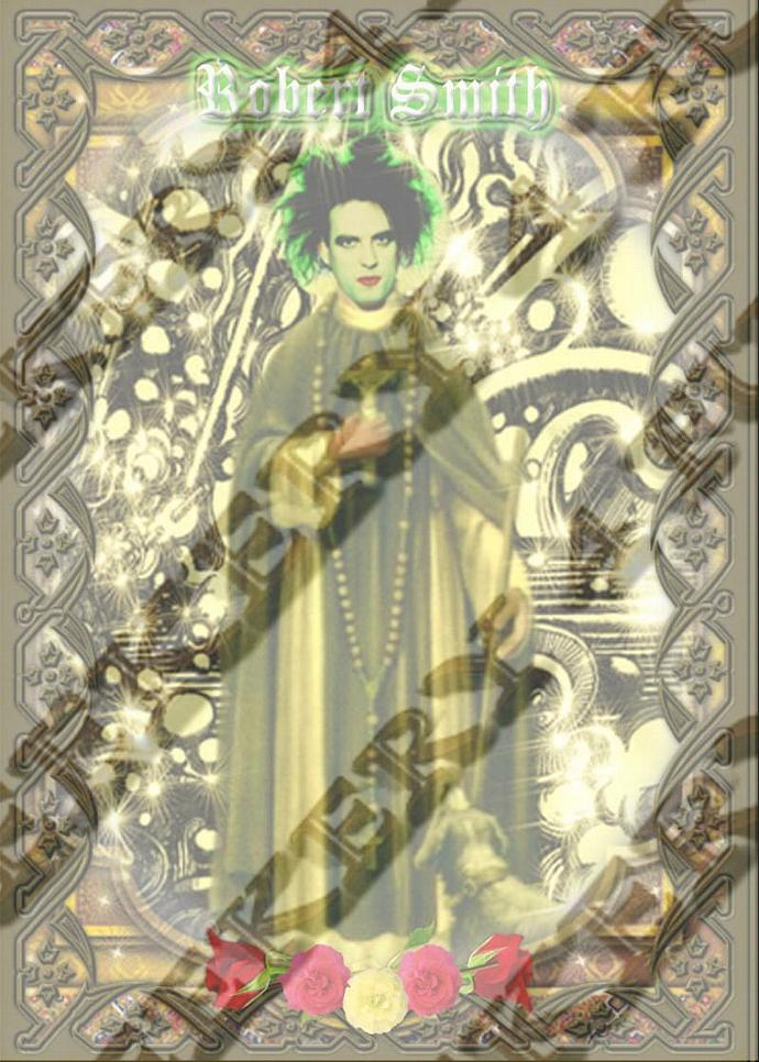 """8""""  Celebrity Tribute Candle - Robert Smith of The CURE   - Heavenly geekery"""