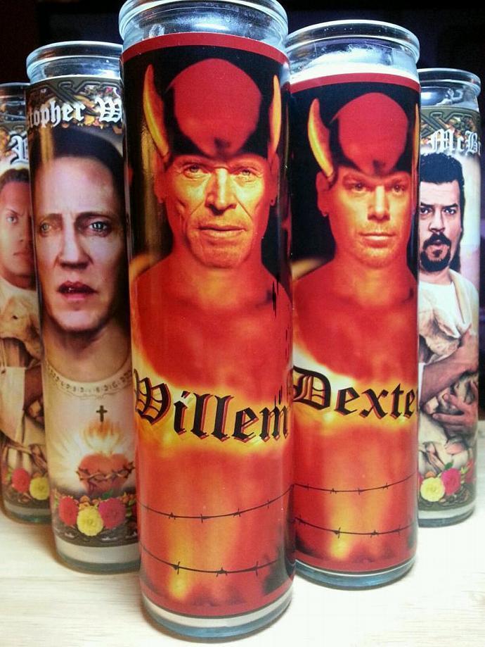 "8"" Celebrity Devishly HOT Candle -  Willem DeFoe  - Tribute Candle  - Heavenly"