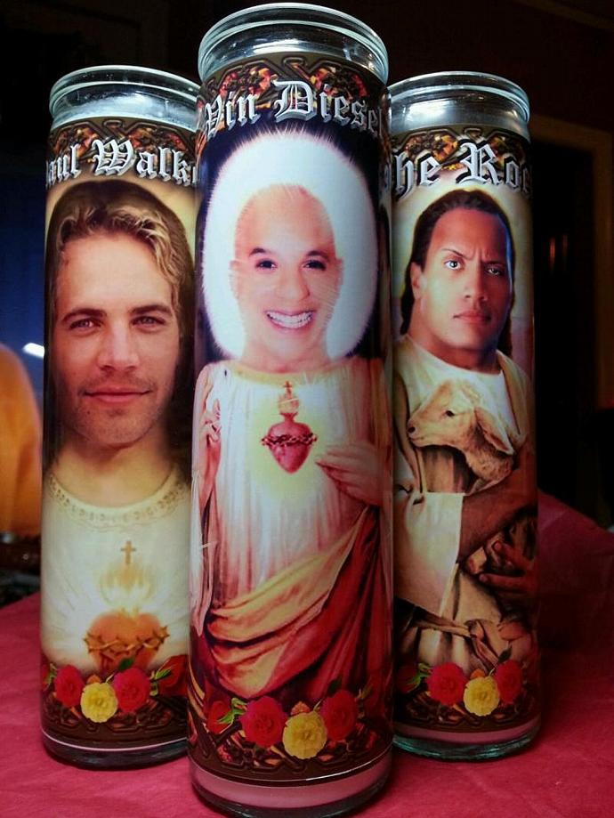 """8"""" Celebrity Tribute Devotional Candle -  Vin Diesel - Fast & Furious  -"""