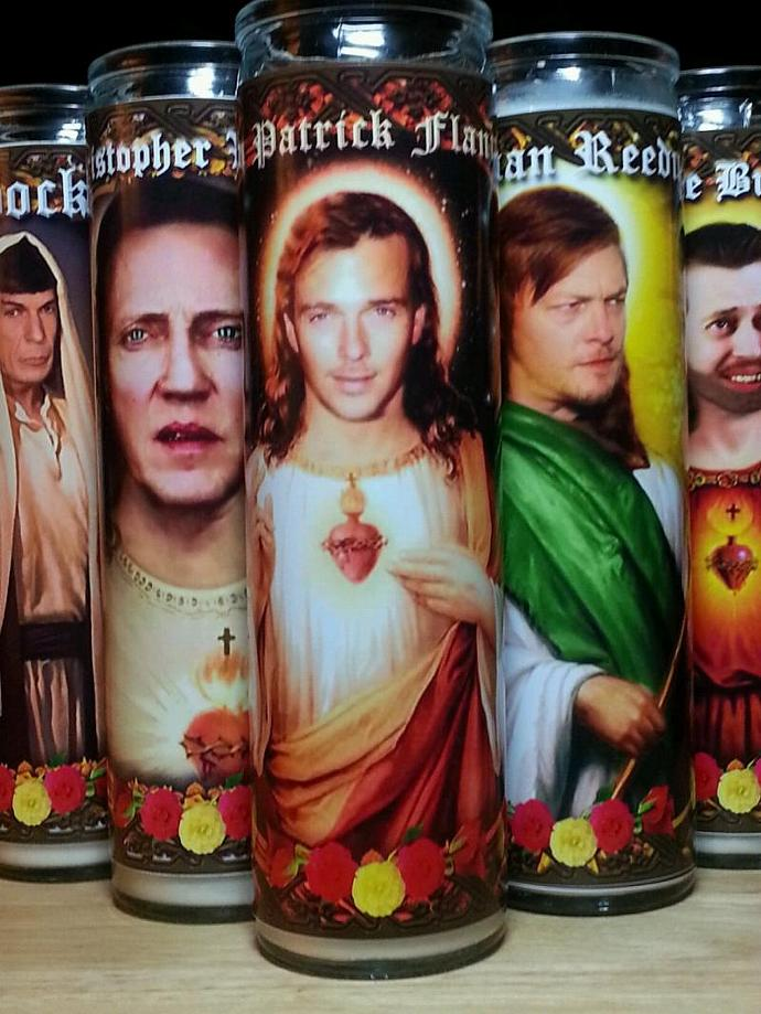 """8""""  Celebrity Tribute Candle - Sean Patrick Flanery Boondock Saints  - Heavenly"""