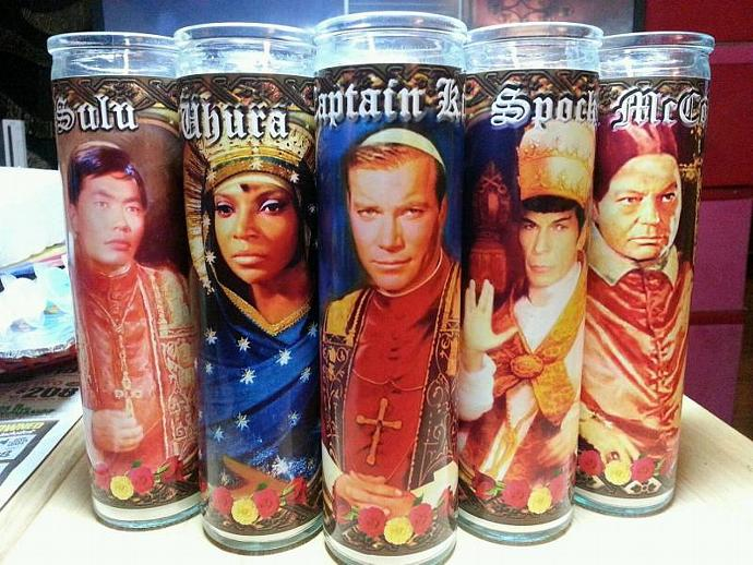 "8""  Celebrity Tribute Candle - SPOCK Leonard Nimoy  - Heavenly geekery"