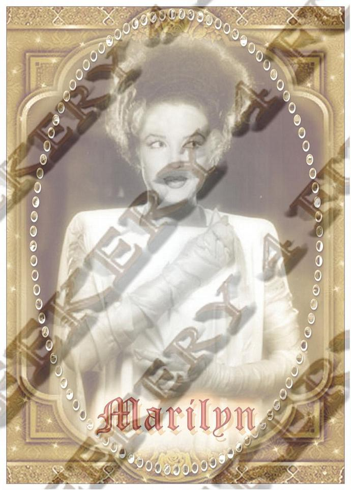 "8""  Celebrity Monster Star Tribute Candle - Bride of Frankenstein - Marilyn"