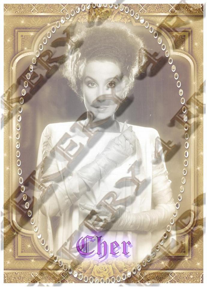 "8""  Celebrity Monster Star Tribute Candle - Bride of Frankenstein - Cher Cher"