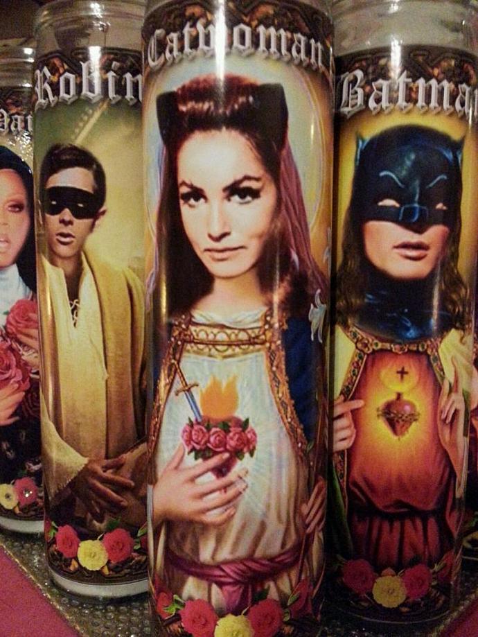 "8""  Celebrity Tribute Candle - Batman -  Robin Burt Ward   - Heavenly geekery"