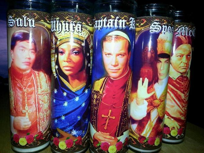 "8"" TV Celebrity Tribute Candle -Set of 5 Star Trek the Kirk Years:  Kirk, Spock,"