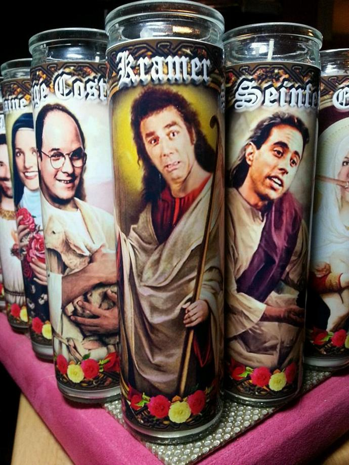 "8"" TV Celebrity Tribute Candle - Seinfeld - Cosmo Kramer Michael Richards  -"
