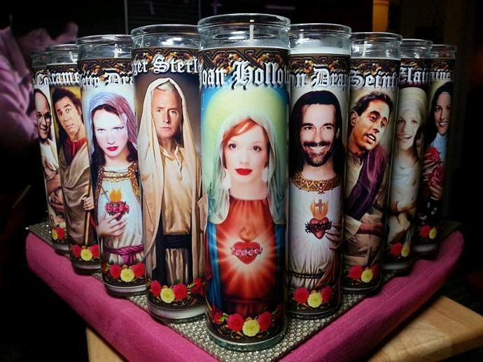"8"" TV Celebrity Tribute Candle - Two and a Half Men - Alan Harper Jon Cryer  -"