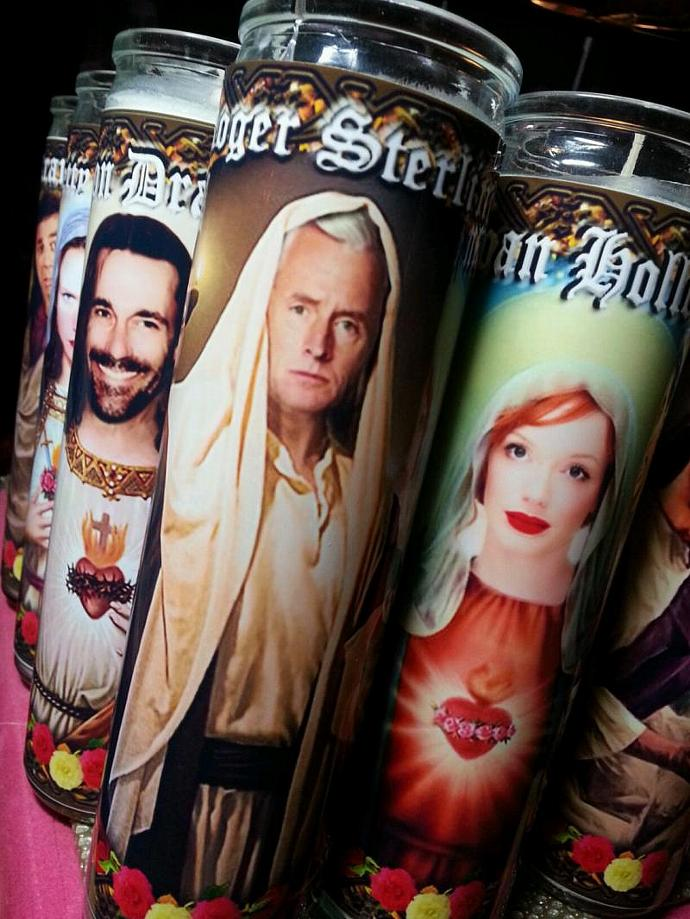 "8"" TV Celebrity Tribute Candle - Mad Men - Roger Sterling John Slattery -"