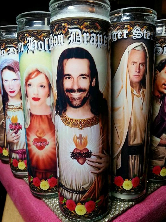 "8"" TV Celebrity Tribute Candle - Mad Men - Don Draper Jon Hamm - Heavenly"