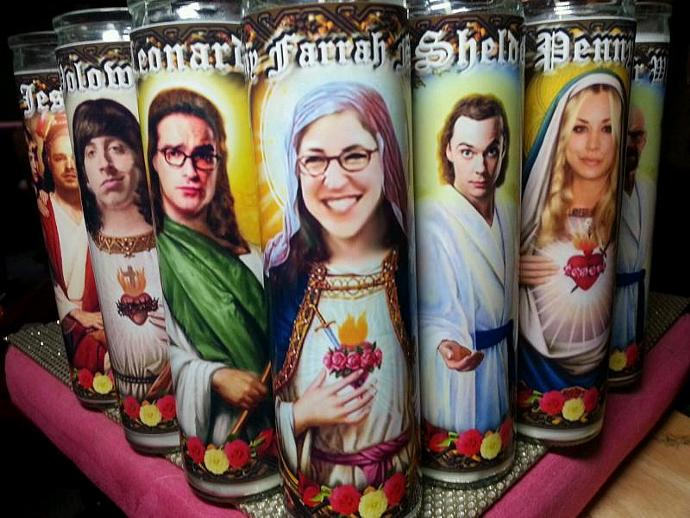 Celebrity Candle - Big Bang Theory - Amy Farrah Fowler / Mayim Bialik  - 7 day