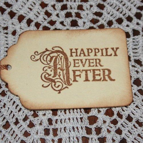 Happily Ever After Wedding Wish Tree Hang Tags