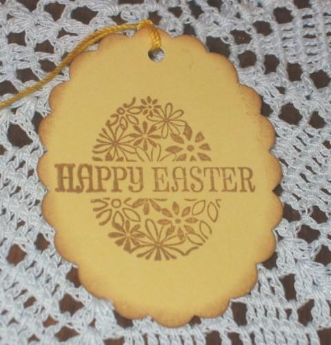 Happy Easter Egg Yellow Hang Tags