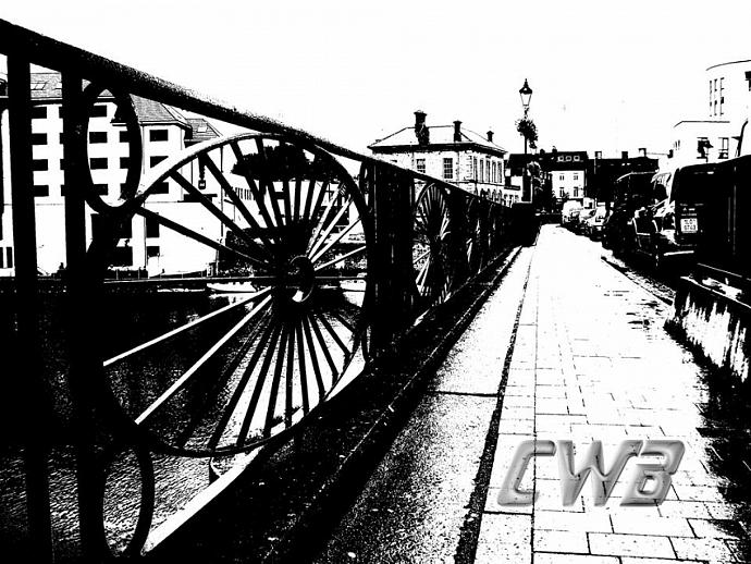 Athlone Bridge Black and White art print