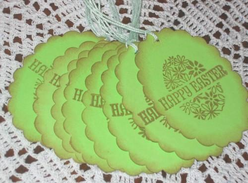 Happy Easter Egg Green Hang Tags