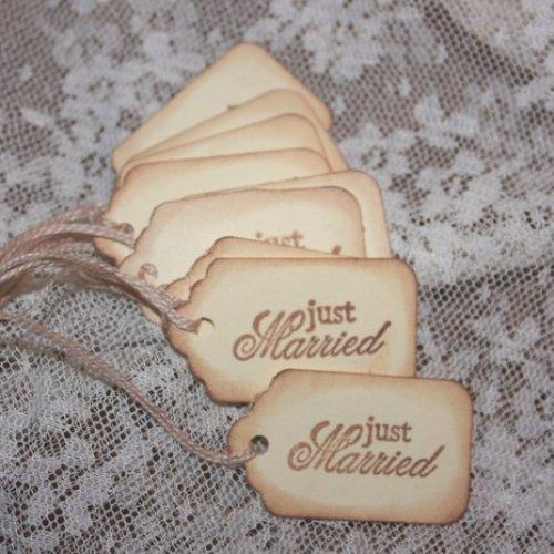 Just Married Wedding Wish Tree Hang Tags