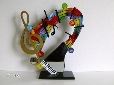 New Music Cleft note Mirrored Piano abstract Table Top Sculpture