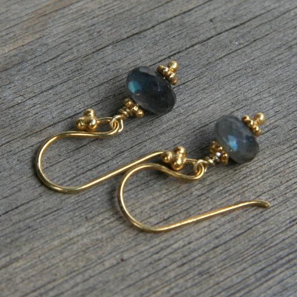 Labradorite and Gold Earrings II