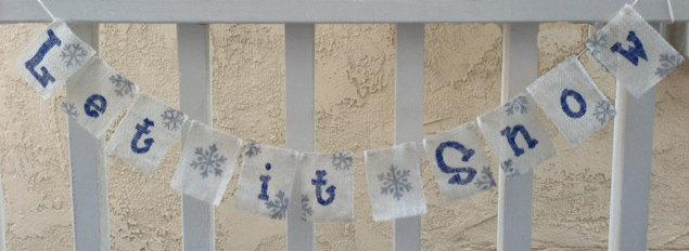 Let It Snow Snowflake Banner / Garland