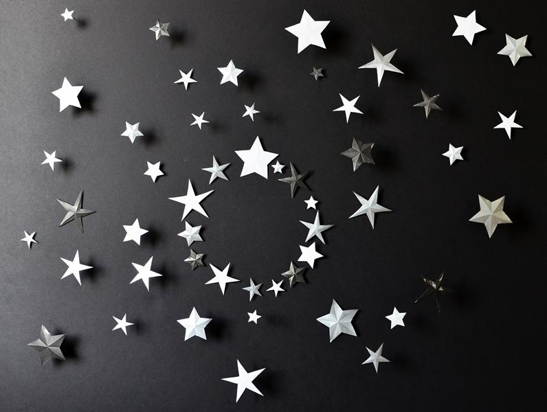 Star Wall Decor Ideas: Metal Wall Art Decor, 3D Star Wall By