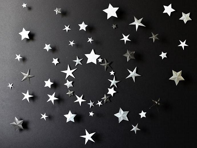 Wall Art Metal Stars : Metal wall art decor d star transcendentaltreasures