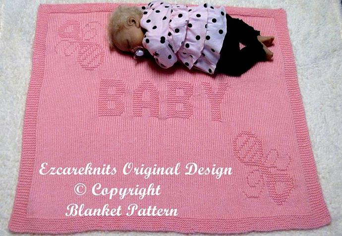BABY RATTLE - Blanket Knitting Pattern