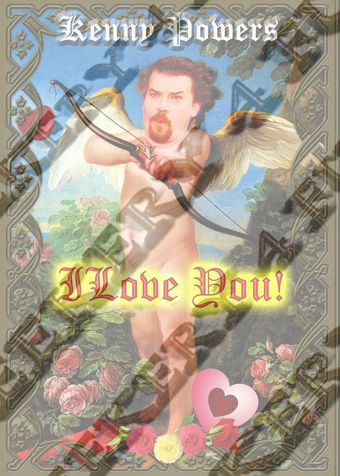 "8""  Celebrity Tribute Candle - Kenny Powers LOVE Candle - Danny McBride -"