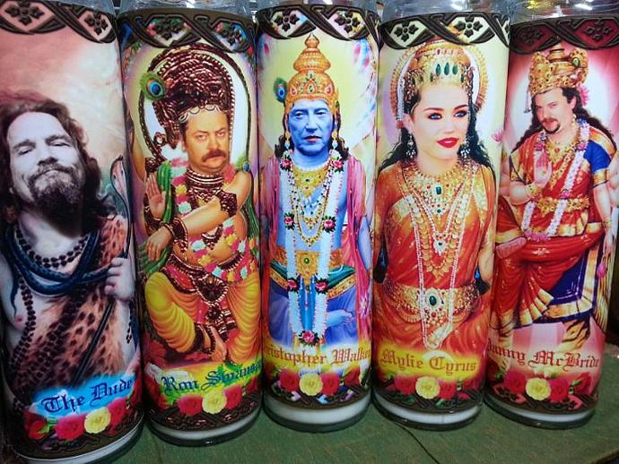 """8""""  Celebrity Tribute Gods/Goddess Candle - Miley Cyrus   - Heavenly geekery"""