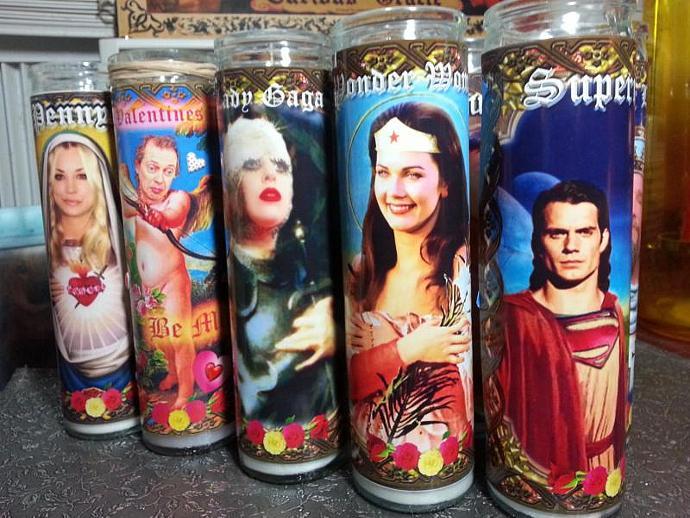 "8""  Celebrity Tribute Candle - Wonder Woman -  Lynda Carter   - Heavenly geekery"