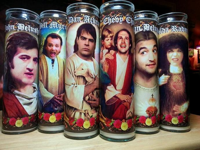 "8"" TV Celebrity Tribute Prayer Candle - SET of 5 -Saturday Night Live Cast"