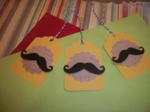 3D Mustache hang / gift tags /6ct