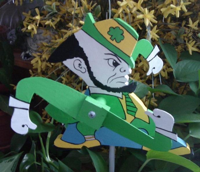 Whirligig  Fighting Irishman mascot