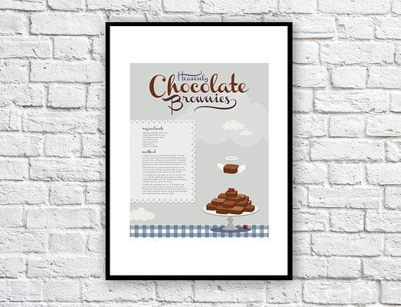 Chocolate Brownie Recipe Poster