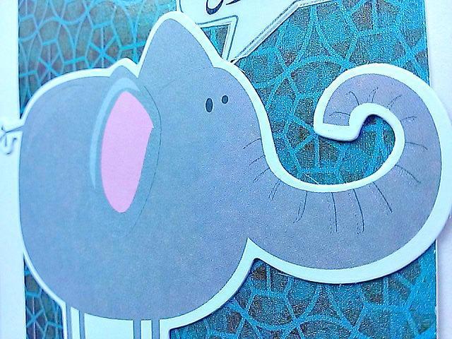 Urdu Elephant Birthday Card