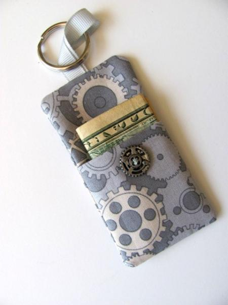 Gears Money Key Chain Steampunk Free US Shipping