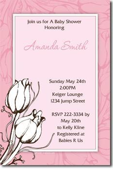 Floral Flower Baby Shower Invitations (download jpg immediately)