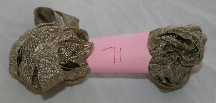 5 yds Hand crinkled shabby chic seam binding SB71