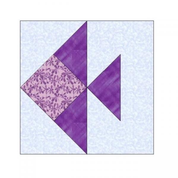 ALL STITCHES - FISH PAPER PIECING QUILT BLOCK PATTERN .PDF -019A