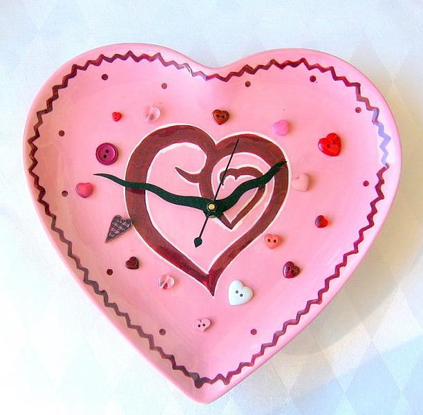 Wavy Heart Ceramic Clock