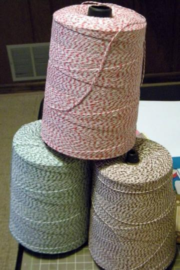 3 - 25 yards 4-ply Bakers Twine