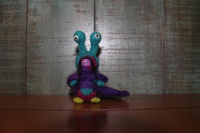 Monster Mong Needle Felted Monster Friend Waldorf-inspired doll