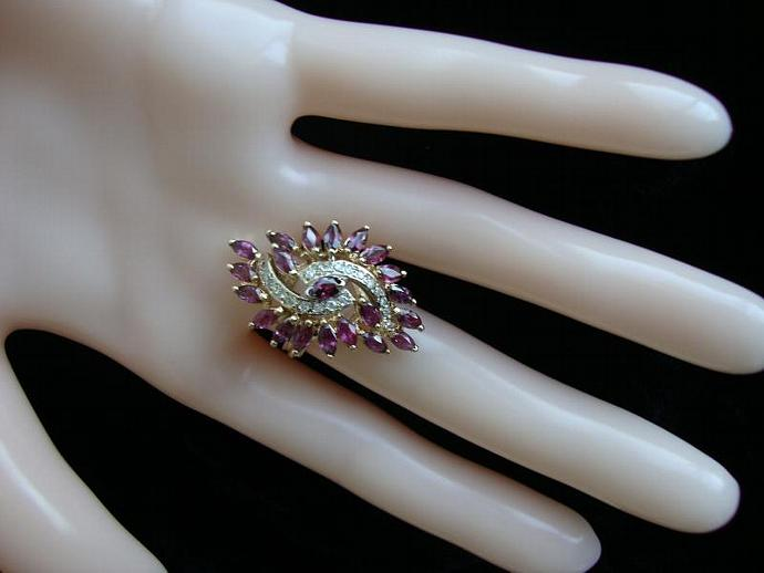 sale, ruby and diamond ring
